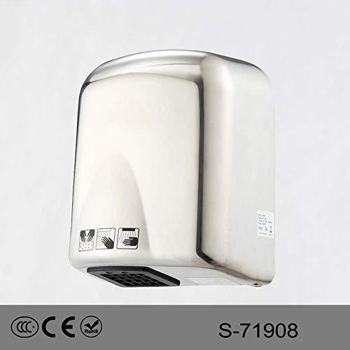 ZTJ-Lighting Automatische Händetrockner, Hochgeschwindigkeits Kommerzielle Händetrockner, 1650W Hochleistungs-Wandtrockner for Badezimmer/Toiletten 220 V -