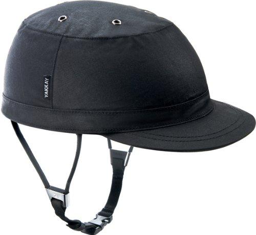 Yakkay Paris Black Oilskin Fahrrad Helm Bezug (ohne Helm.): Medium (55–57cm)