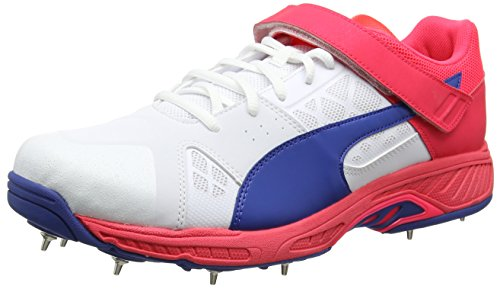 Puma Evospeed B, Chaussures de Cricket Homme Blanc (Puma White-true Blue-bright Plasma 06)