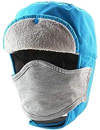 Gorro de Invierno Mujer Hombre A prueba de viento Unisex impermeable Sombrero de esquí Pasamontañas Máscara
