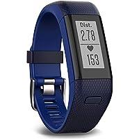 Garmin vívosmart HR+ Fitness-Tracker - GPS-fähig, Herzfrequenzmessung am Handgelenk, Smart Notifications, Blue, M - L, 010-01955-32