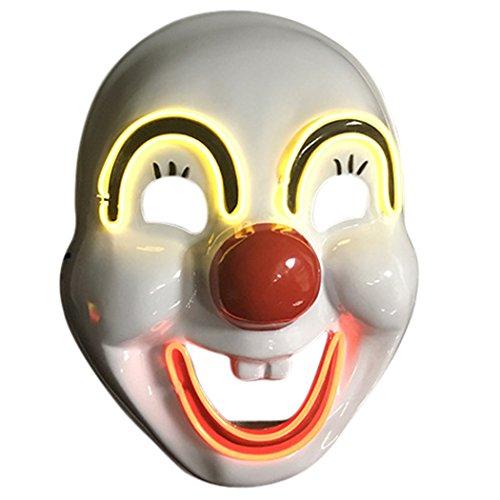 OUTGEEK Máscara de Halloween, máscara de la cara completa Máscara Mascarada Máscara de payaso de Halloween para las decoraciones del partido de Halloween Cosplay