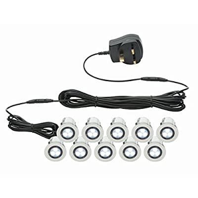Pack of 10 x 30mm LED Deck Lights from First Choice Lighting
