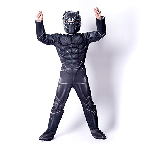 MASHGN Black Panther Kids Show Cosplay costume Avengers unione masquerade costume di Halloween, blackL