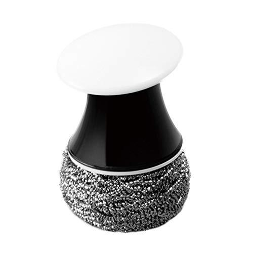 Mioloe 1 pz spazzolino di pulizia sostituibile in acciaio inox spugnetta padella pentola forno griglia filo scrub