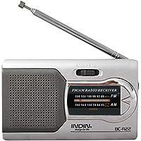 Universal Slim Am/FM Mini Radio World Receptor Estéreo Altavoces Reproductor de música de Alto Rendimiento de Ballylelly