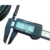 Nero gomma nitrile carburatore combustibile e aria tubi 5mm di diametro interno 8mm Diametro Esterno 2metri - Throttle Interno