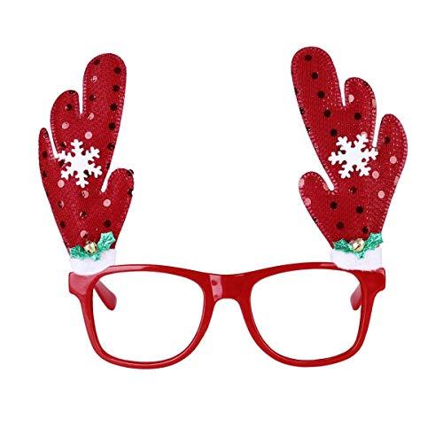 Qy217 Colgante Deco Innovador Navidad Reindeer Antler Snowfalke Gafas de Sol Party Party Xmas Holiday Disfraces Accesorios de Disfraces favores de Fiesta