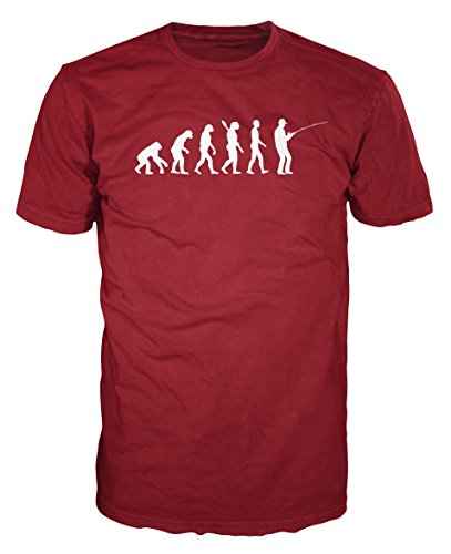 Fisher Evolution Funny T-shirt (S, Brick Red) (Fisher Tshirt)