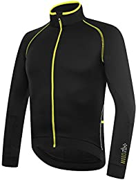 RH + Zero LS JERSEY blafluoyel L, camisetas (Ciclismo), Black–para hombre Yellow Fluo, L)