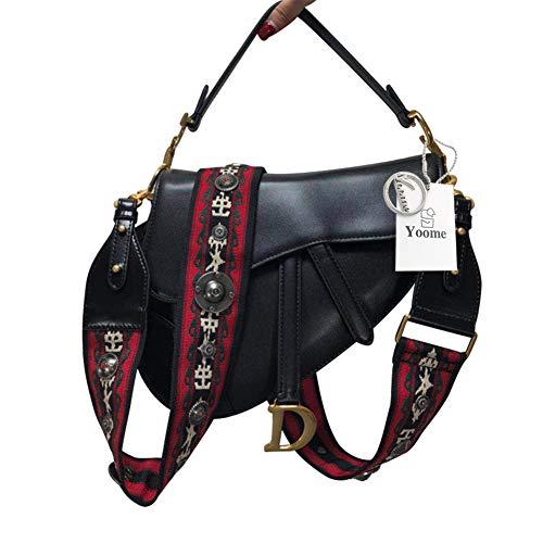 Yoome Damen Designer-Schultertasche mit Nietengriff, Handtasche Crossbody-Clutch -