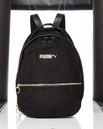 PUMA Damen Prime Premium Archive Backpack Rucksack, Black, OSFA (Black Rucksack Suede)