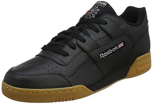 Classic Running Sneakers (Reebok Herren Workout Plus Fitnessschuhe, Schwarz (Black/Carbon/Classic Red Royal/Gu 000), 45 EU)