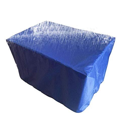 ZEMIN JaFunda Protectora Muebles Jardín Cubierta Exterior Mesa Parrilla Prueba Polvo Mesa Silla Protección Solar Impermeable Anti-envejecimiento, 12 Tallas (Color : Azul, Tamaño : 308x138x98cm)