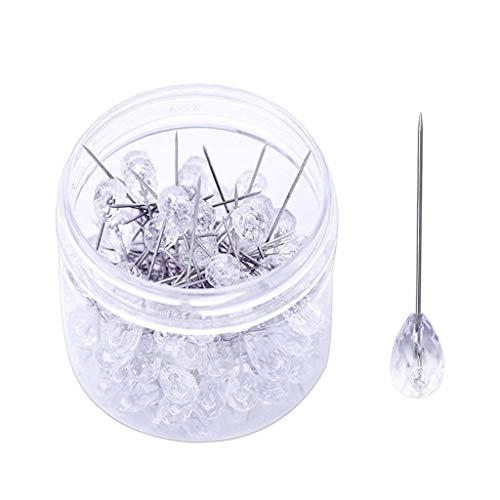s Glas Kopf Nähen Befestigungsnadeln Pins Schmuckherstellung ()