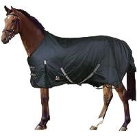 PFIFF Outdoor-Decke - Manta/Sábana para caballo, color negro, talla 155 cm