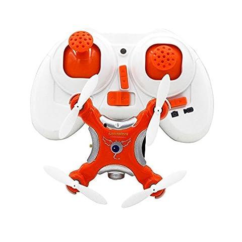 SmartEra® CX-10C Mini Quadcopter 2.4G Kanal Fernbedienung mit 0.3MP Kamera(orange)