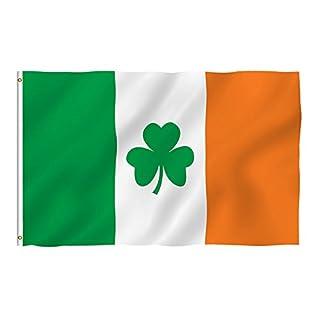 Naicasy 90* 150cm 3* 150Irland Shamrock Flagge Irish Clover Flagge 1Pack