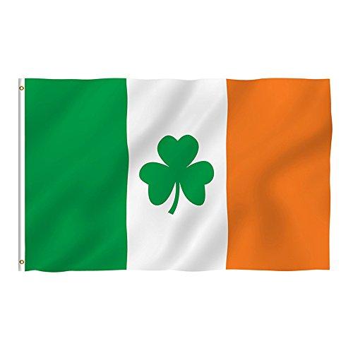 Naicasy 90* 150cm 3* 150Irland Shamrock Flagge Irish Clover Flagge 1Pack -
