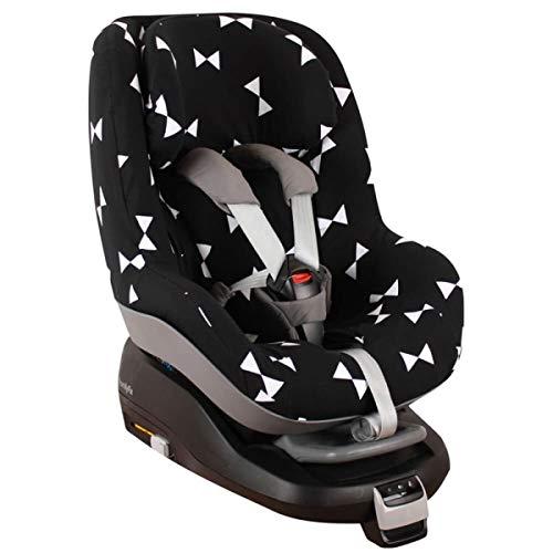 Housse Siege Auto Bebe Pour Coque Maxi Cosi 2waypearl, Bebe Confort  Accessoire Enfant Indispensable pour plus de Confort  Coton Oeko-Tex Certifié Noir Noeuds Papillons