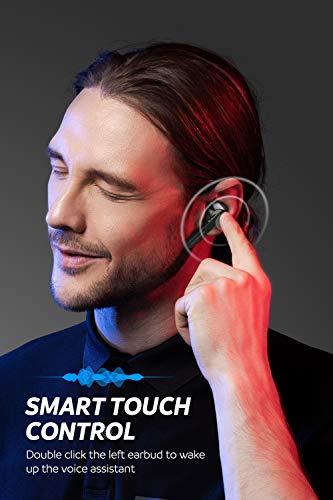 SoundPEATS Auriculares inalámbricos,  Auriculares TWS Bluetooth 5.0 In- Ear Cascos Inalámbricos Bluetooth con Caja de Carga Portátil Sonido de Alta Definición,  Control Tactil,  IPX5