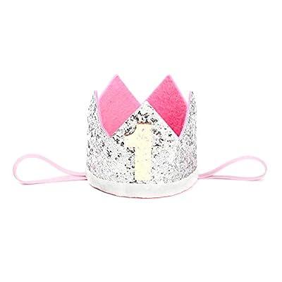 Da.Wa Silver Children's Crown Headband Birthday Hair With Baby Flower Headdress Children's Accessories Party Headband Party HairBand