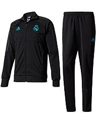 2017-2018 Real Madrid Adidas Training PES Tracksuit (Black)