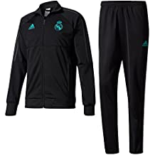 adidas PES Suit Chándal Real Madrid CF Temporada 2017/2018,  Hombre,  Negro (Gripur),  L