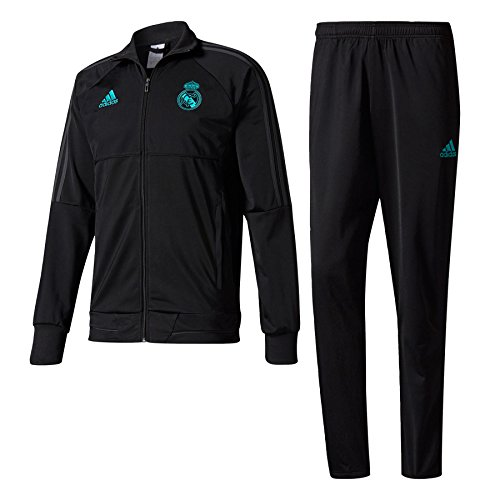 adidas PES Suit Chándal Real Madrid CF, Hombre, Negro (Gripur), S