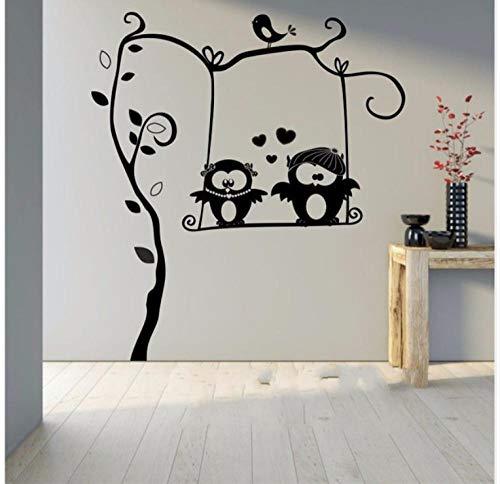 Fbbhsto Niedliche Eule Auf Ast Kinderzimmer Dekor Kinder Vinyl Wand Aufkleber Zimmer Aufkleber Kinderzimmer Baby Schlafzimmer Wandbilder Spielzimmer