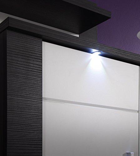 trendteam XP13610 Wohnzimmerschrank Vitrine Esche grau Nachbildung, Fronten weiß Nachbildung, BxHxT 89x197x36 cm - 3