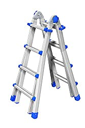 Marchetti Teleskopleiter/Multifunktionsleiter Equipe bis 5,25 m (EQU55) ausziehbar Mehrzweckleiter/Leiter aus Aluminium