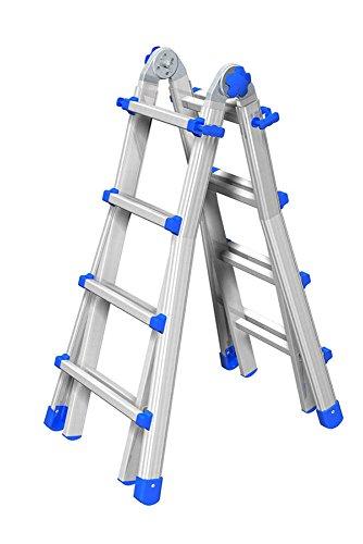 Marchetti Teleskopleiter/Multifunktionsleiter Equipe bis 2,95 m (EQU33) ausziehbar Mehrzweckleiter/Leiter aus Aluminium