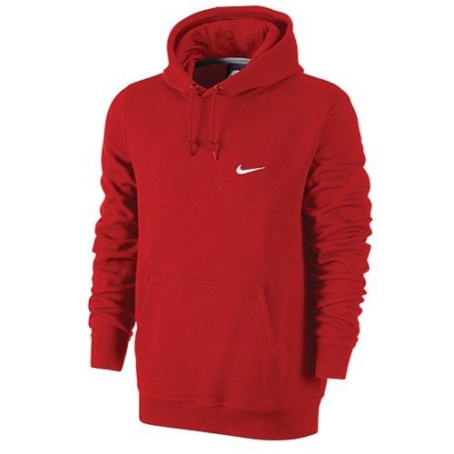 Nike Club hoody-swoosh Sweatshirt Gr. Large, rot / weiß