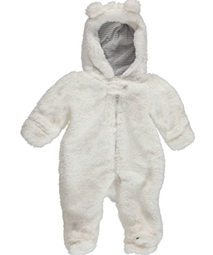 Carter's Infant Boys White Bear Feet Hooded Jumpsuit Coverall Baby Outfit Pram Carters Hooded Fleece