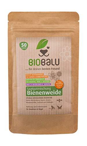 Biobalu Bienenweide Süd | Blumenwiese | Blüten Saatgut mehrjährig | Spezielle Artenauswahl für Süddeutschland 50g