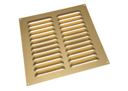 Lot Of 10 Gold-Aluminium Louvre Grille Vent Belüftung Cover 9 X 9 Zoll