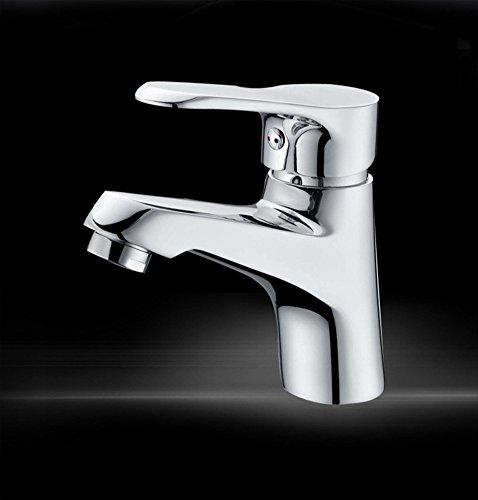 Singolo rubinetto di cucina di foro lavabo lavandino doccia fredda/calda, cromatura , (80 % Di Rame Treccia)