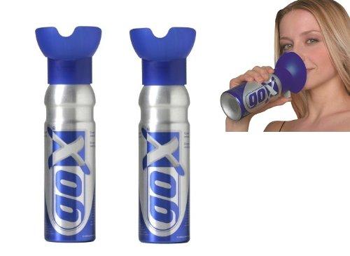 GOX - Lote latas oxígeno puro relajación 2 unidades