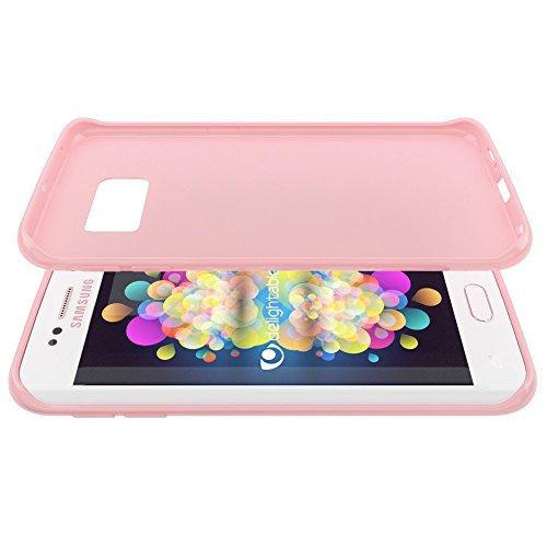 iPhone 6S Plus 6 Plus Cover Custodia Protezione di NICA, Ultra-Slim Case Protettiva Morbido Cellulare in Silicone Gel, Gomma Jelly Bumper Sottile per Telefono Apple iPhone 6S+ 6+ - Rosso Rose