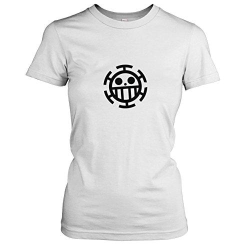 TEXLAB - Heart Piraten - Damen T-Shirt, Größe L, weiß (L Word-becher)