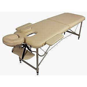 Massageliege / Massagebank ALU, nur 10kg, mit viel Zubehör, Topqualität, creme gelb