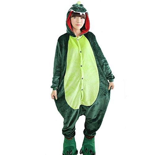 JOMNM Unisex Schlafanzug Erwachsene Jumpsuit Tier Halloween Kostüm Party Kigurumi Cosplay Fleece-Overall Pyjama Sleepsuit Homewear. (L (170-180cm), (Geschwister Halloween Kostüme)