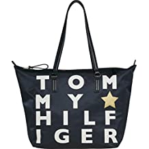 Poppy Tote Logo - Tommy Navy/Logo