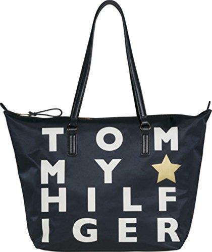 TOMMY HILFIGER AW0AW05319 POPPY TOTE BORSA A MANO E POCHETTE Donna Multicolore