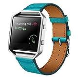 Cinturino alla moda, Scpink Cinturino dell'orologio di ricambio cinturino di ricambio in vera pelle per bracciale FB Blaze Smart Fitness (Blu)