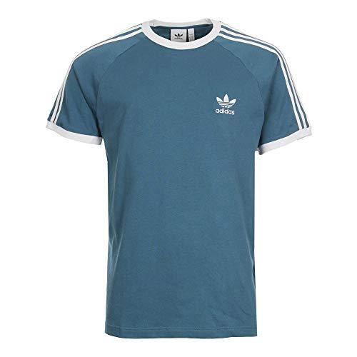 Adidas Originals Herren T-Shirts Mens T Shirt 3 Stripe Trefoil Tee Pale Blue Crew Neck S-XL DV2554 (XXL) Originals 3 Stripes Trefoil