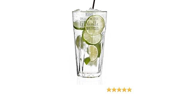 das ist deine erste GINvolle Idee des Tages Herz /& Heim/® Gin /& Tonic Longdrink Glas mit Gravur