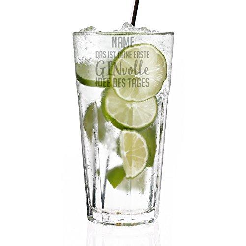 Herz & Heim® Gin & Tonic Longdrink Glas mit Gravur - das ist deine erste GINvolle Idee des Tages
