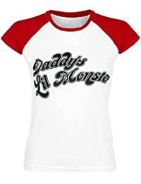 Suicide Squad Harley Quinn - Daddy's Little Monster T-shirt Femme rouge/blanc